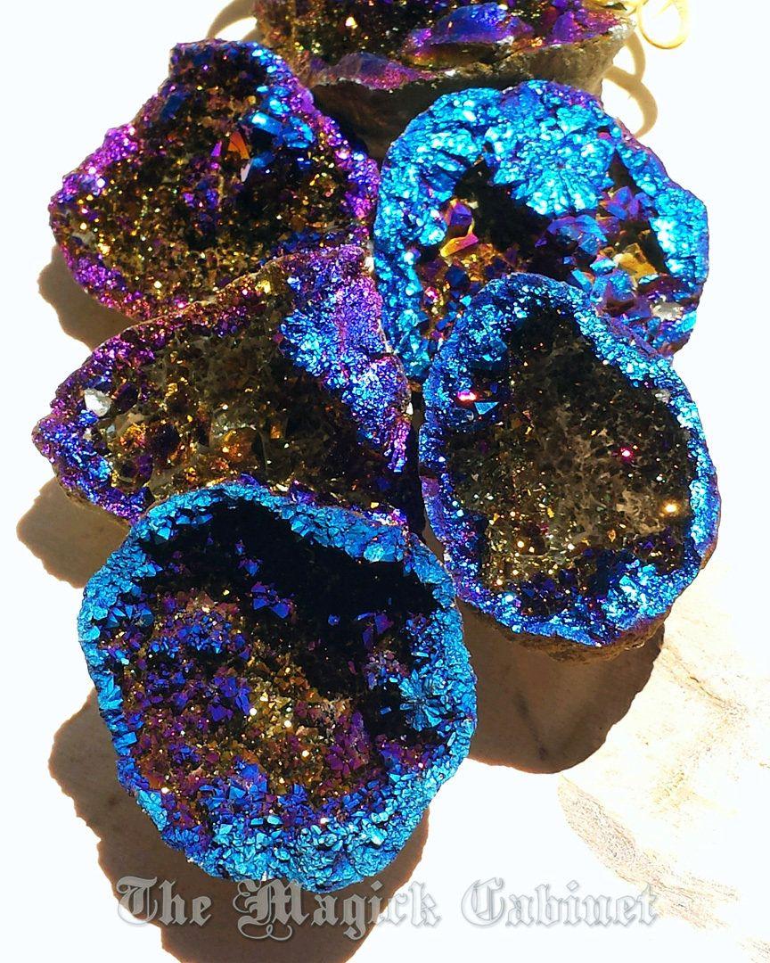 titanium aura quartz geodes the stone of astral journeys flame