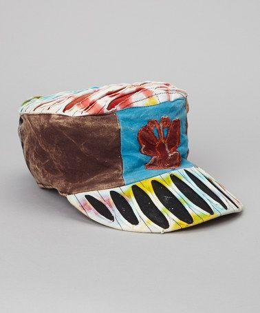 Take a look at this Blue & Brown Butterfly Newsboy Hat by Rising International on #zulily today!
