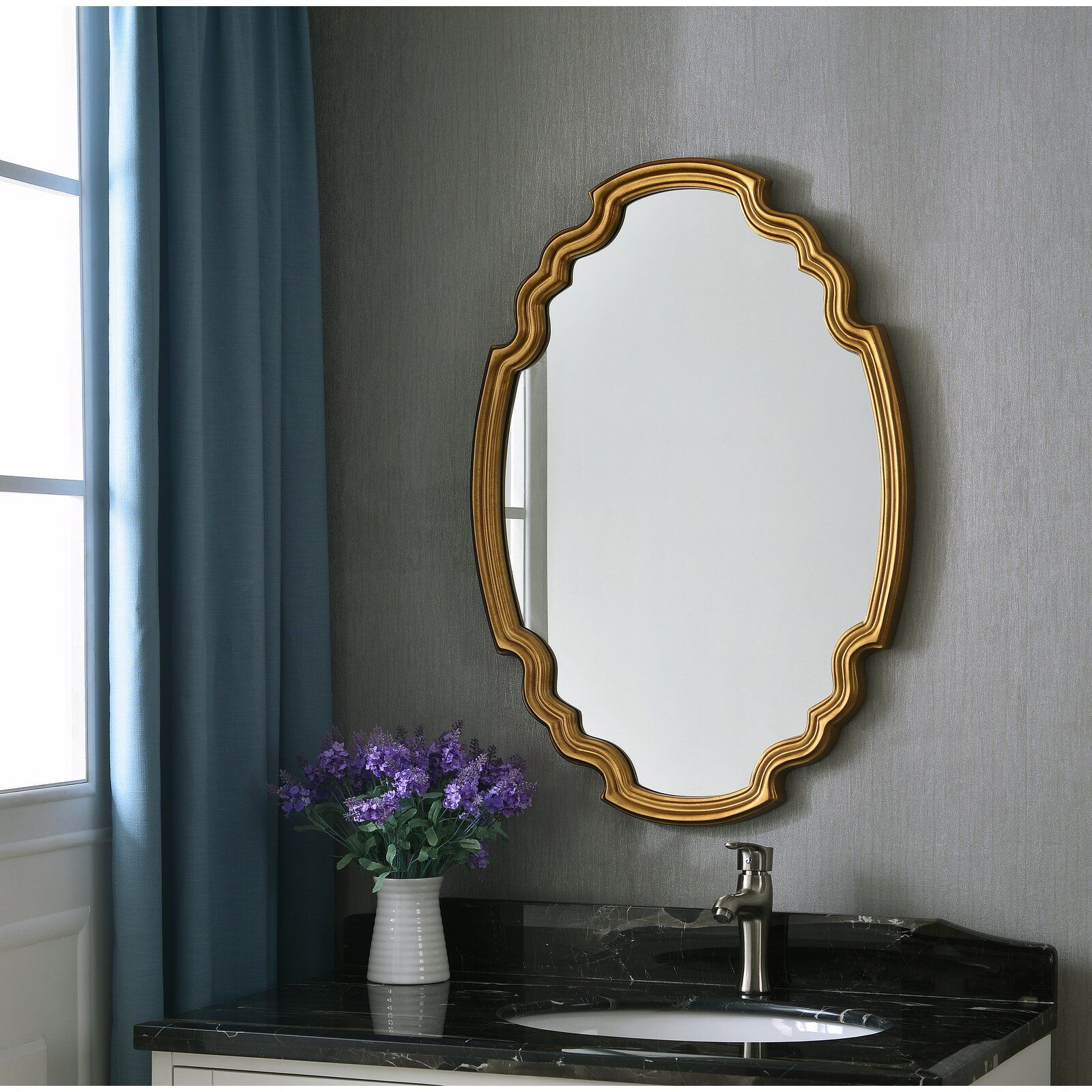 Halette Glam Accent Wall Mirror  Mirror wall, Accent wall, Gold