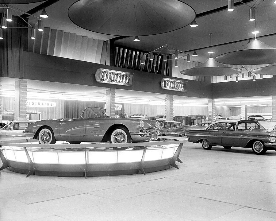 1959 Chevrolet Models LineUp At The Auto Show Vintage