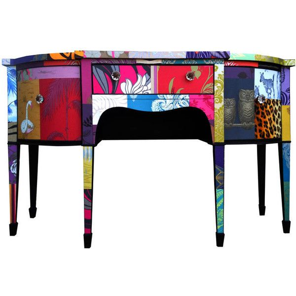 Bryonie Porter Patchwork Desk (5.110 BRL) ❤ liked on Polyvore featuring home, furniture, desks, mahogany furniture, mahogany desk and patchwork furniture