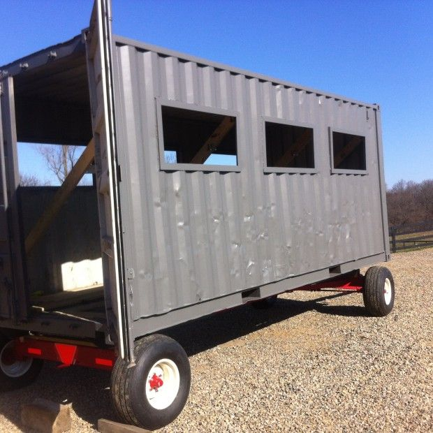 Mobile Chicken Coop From Shipping Container All Things Chicken