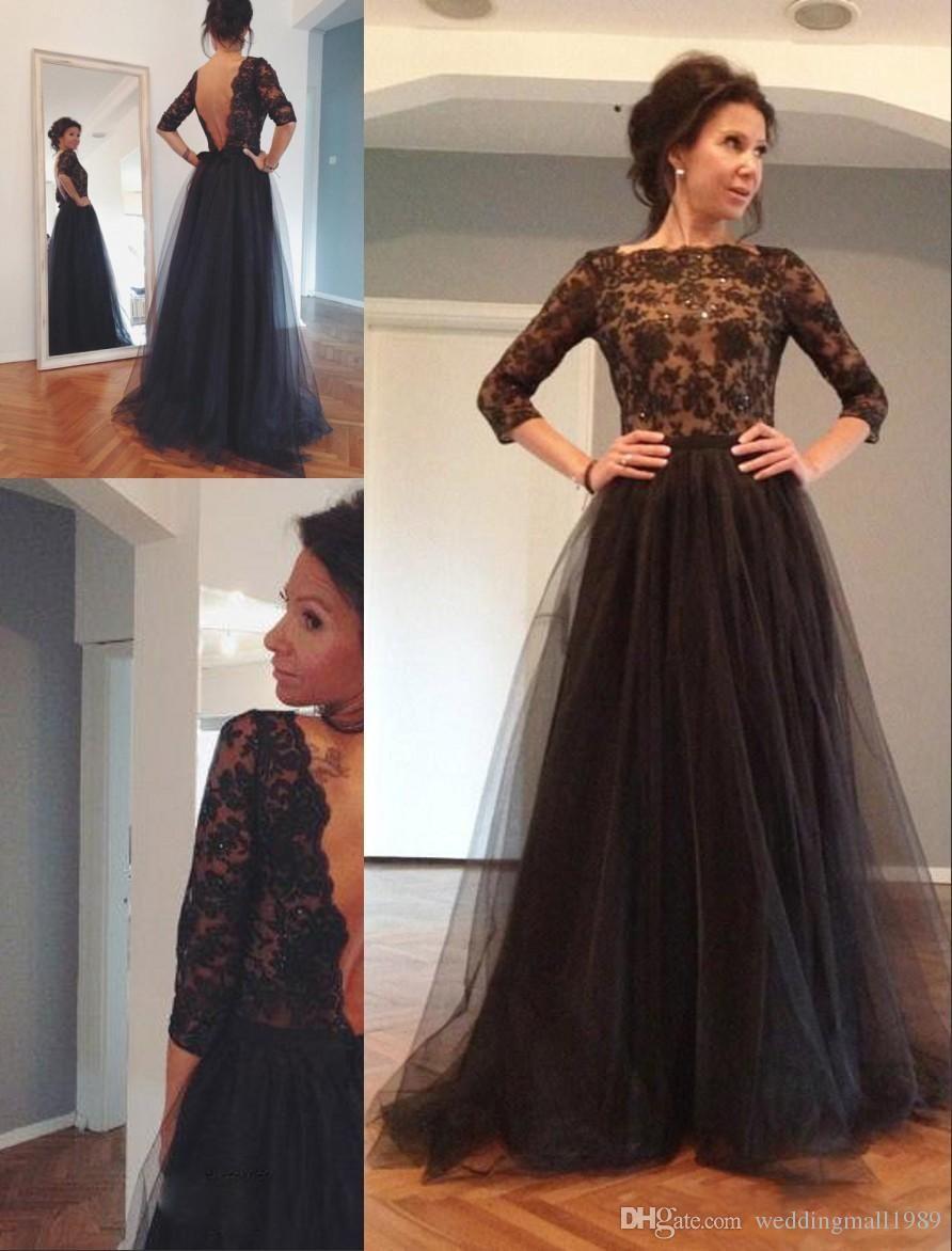 Robe de soiree formal evening gowns dresses lace applique