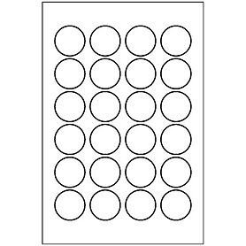 Free Avery® Template for Microsoft Word, Round Label 5408