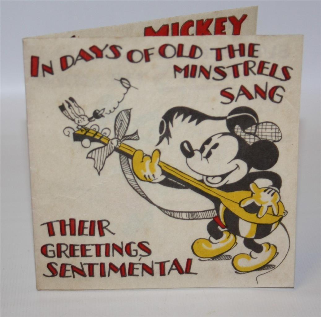 Auctiva Image Hosting Vintage Disney Birthday Card