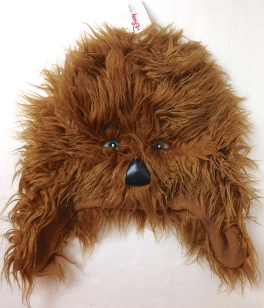 6b91e10902b New CHEWBACCA FACE WINTER HAT Faux-Fur Beanie Costume Laplander Star Wars  ADULT  Disney  Beanie
