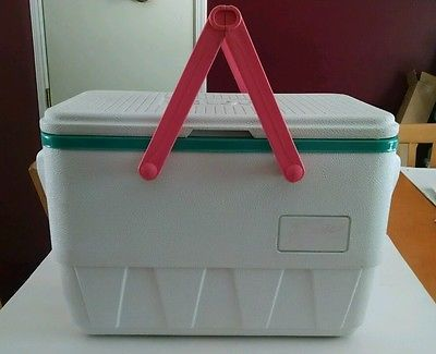 Vintage neon cooler the picnic basket by igloo 90s retro - Igloo vintage ...