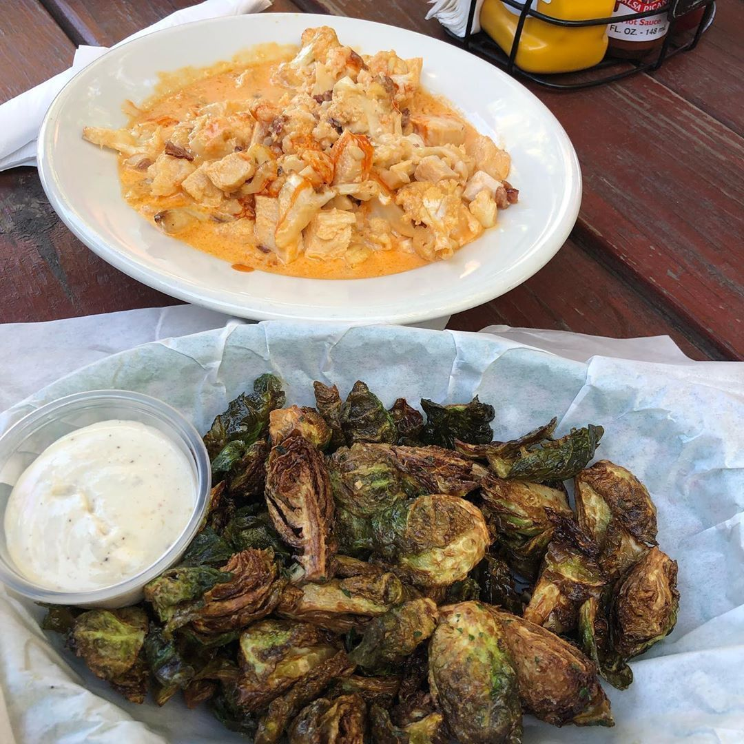 I'm in #keto heaven right now Double fried Brussels Sprouts with Garlic Aoli, spicy buffalo Chicken Cauliflower MAC n Cheese  I'm in #keto heaven right now Double fried Brussels Sprouts with Garlic Aoli, spicy buffalo Chicken Cauliflower MAC n Cheese #buffalobrusselsprouts I'm in #keto heaven right now Double fried Brussels Sprouts with Garlic Aoli, spicy buffalo Chicken Cauliflower MAC n Cheese  I'm in #keto heaven right now Double fried Brussels Sprouts with Garlic Aoli, spicy buffalo #buffalobrusselsprouts