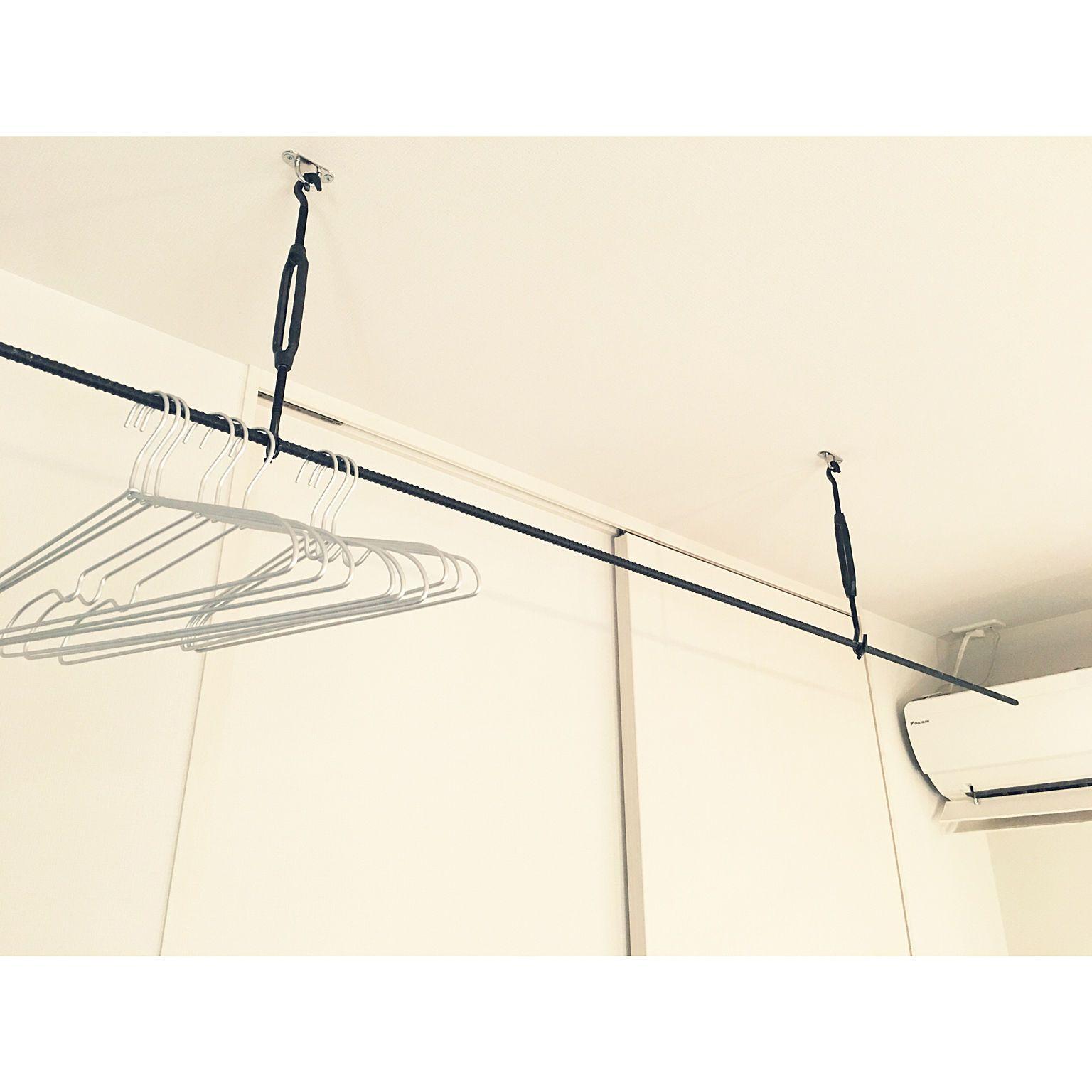 壁 天井 ハンガー 無印良品 ターンバックル 異形鉄筋 などの
