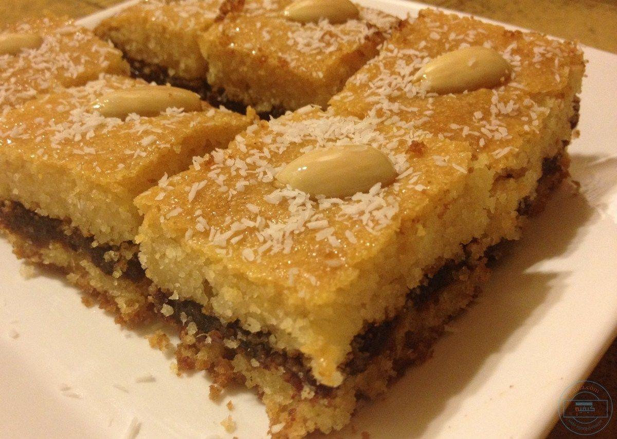 طريقة تحضير البسبوسة المغربية Date Recipes Food Desserts