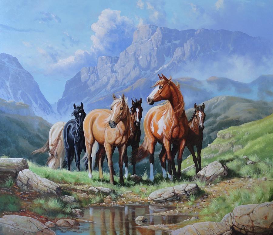wild horses art - Google Search | John Wayne & cowboys in ...
