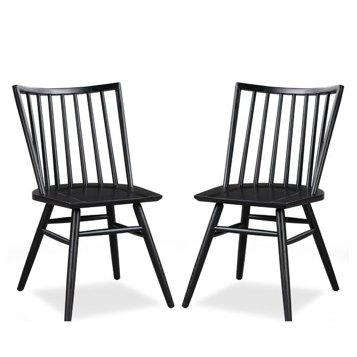 Throggs Solid Wood Dining Chair In 2020 Solid Wood Dining Chairs