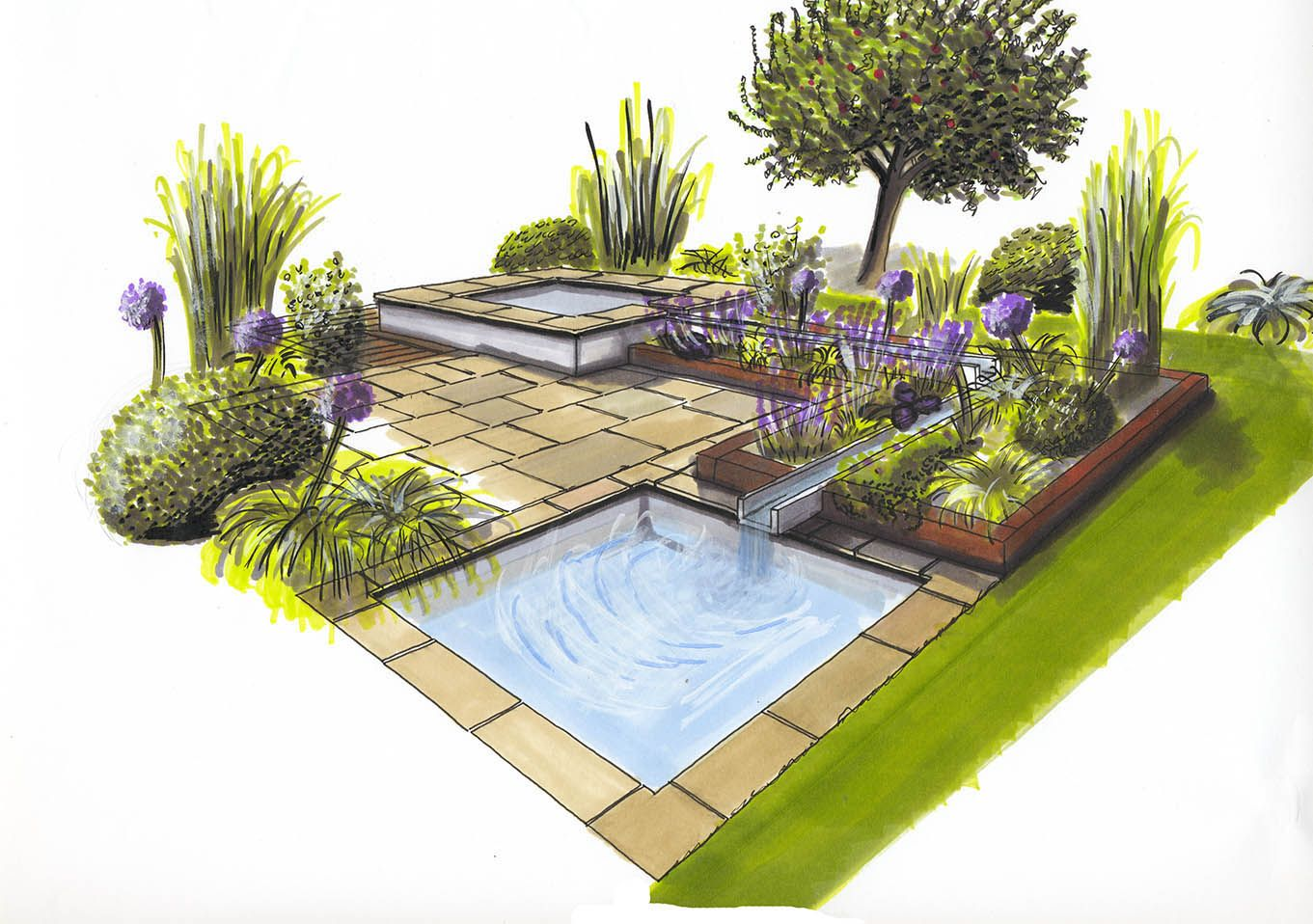 1000 Images About Landscape And Gardens Sketches On Pinterest