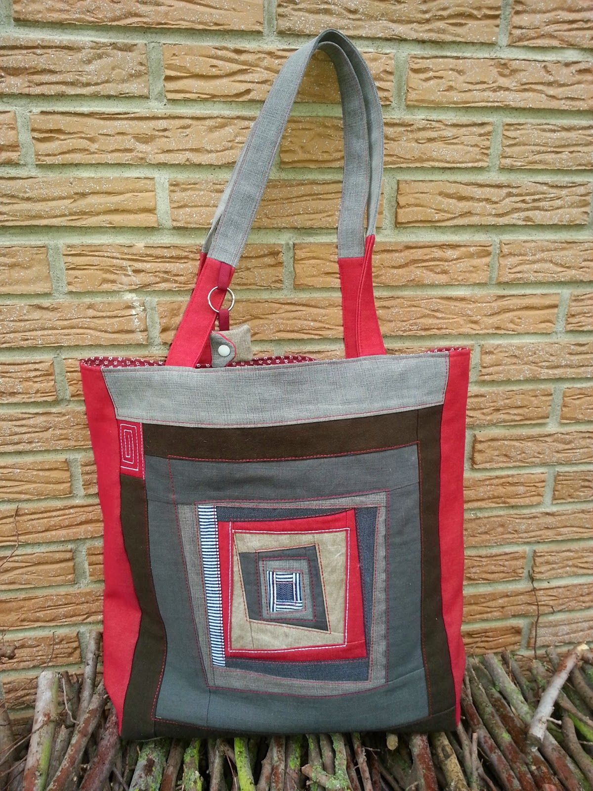 ogginelle ideen aus stoff patchwork einkaufstasche taschen pinterest. Black Bedroom Furniture Sets. Home Design Ideas