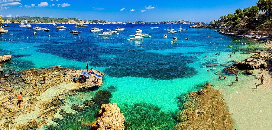 Cala Fornells Mallorca Espana by RumePhotography from http://500px.com/photo/208776591 - . More on dokonow.com.