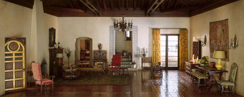 Old Living Room 1940 california living room, c. 1935-1940 | thorne miniature rooms