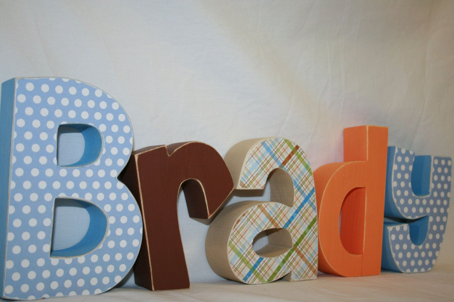 Baby wooden letters nursery thenurseries for Baby name decoration