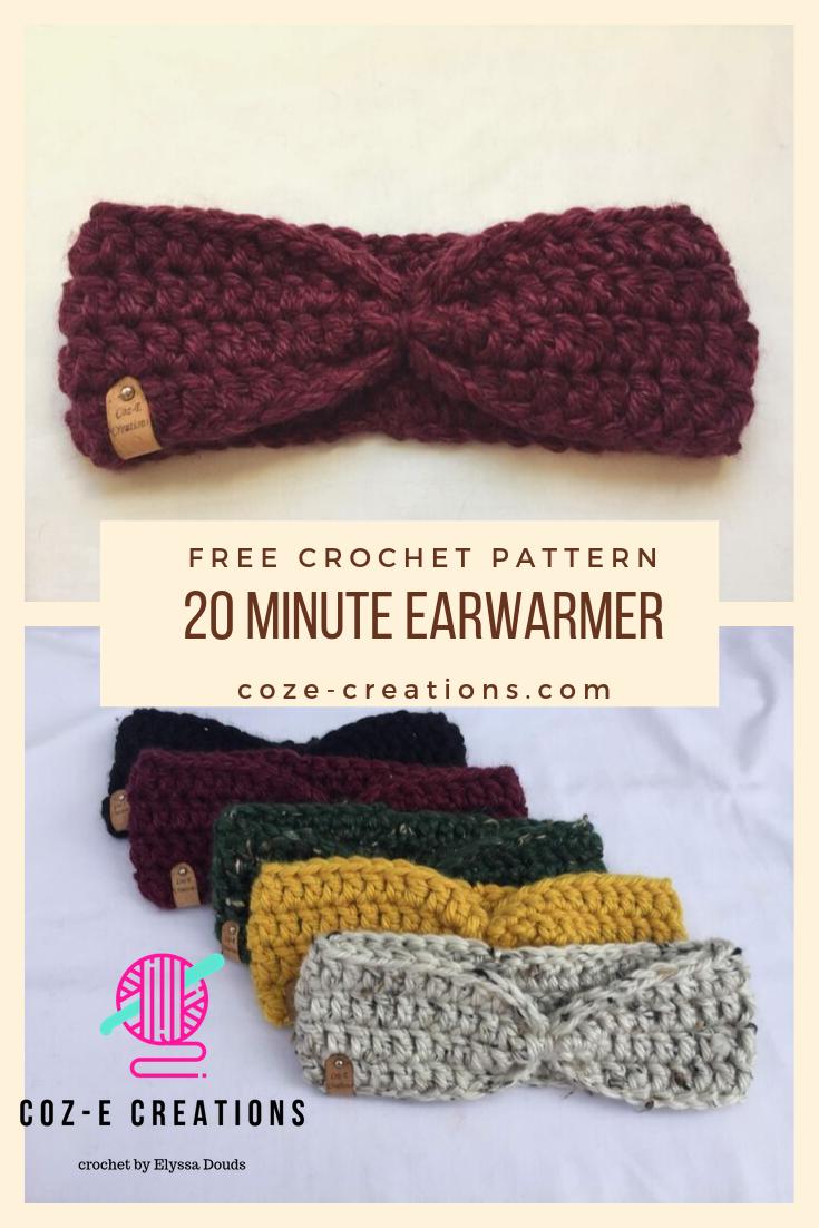 Free Crochet Earwarmer Pattern This super quick free crochet pattern will help your speed