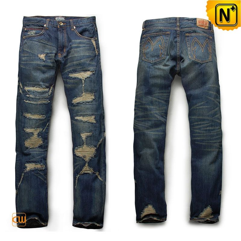 Denim Ripped Skinny Jeans For Men C | Ripped skinny jeans and Moda ...