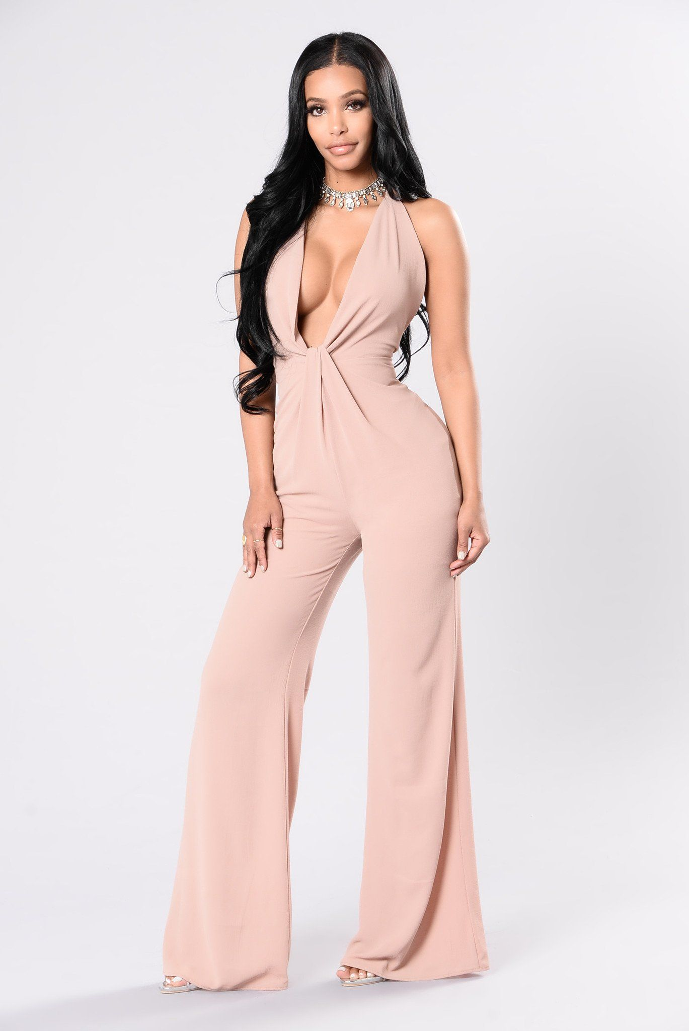 5c7ce2fab2e Can t Stop My Love Jumpsuit - Nude