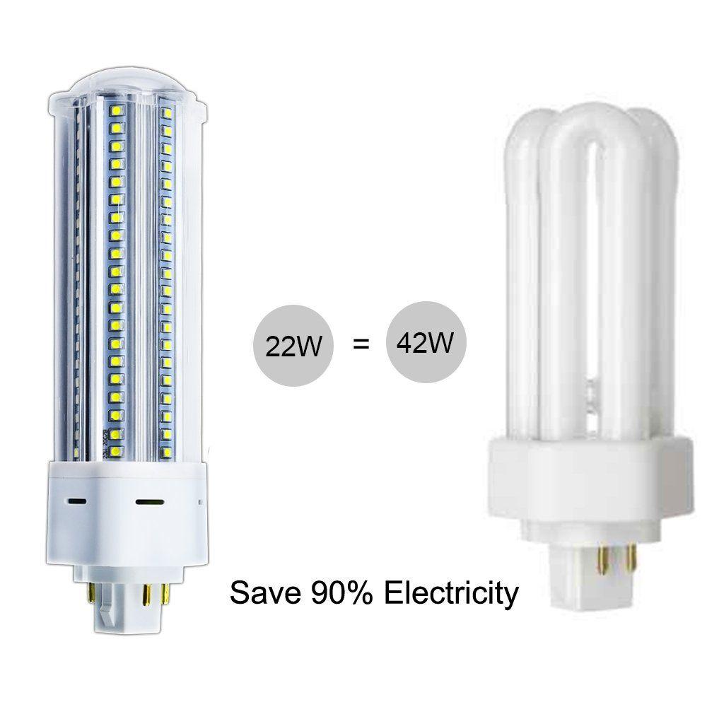 22w Led Gx24q G24q 4pin Pl Retrofit Lamp 42w Cfl Equivalent Gx24