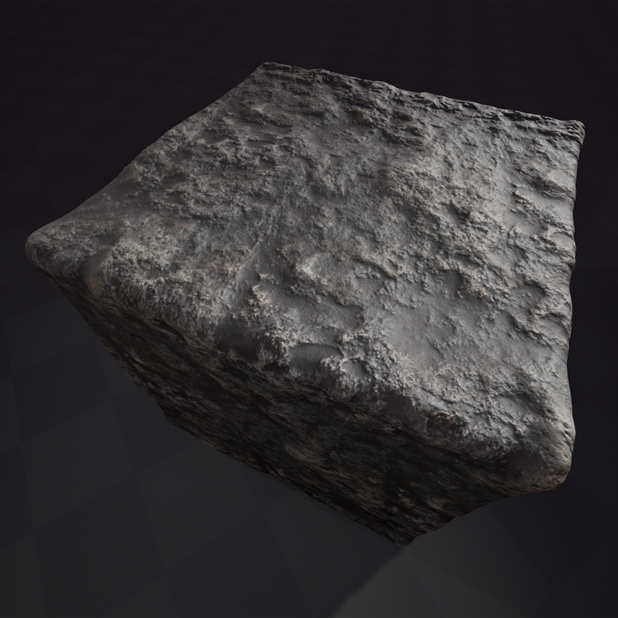 Rough Rockface 2 PBR Material Physically based