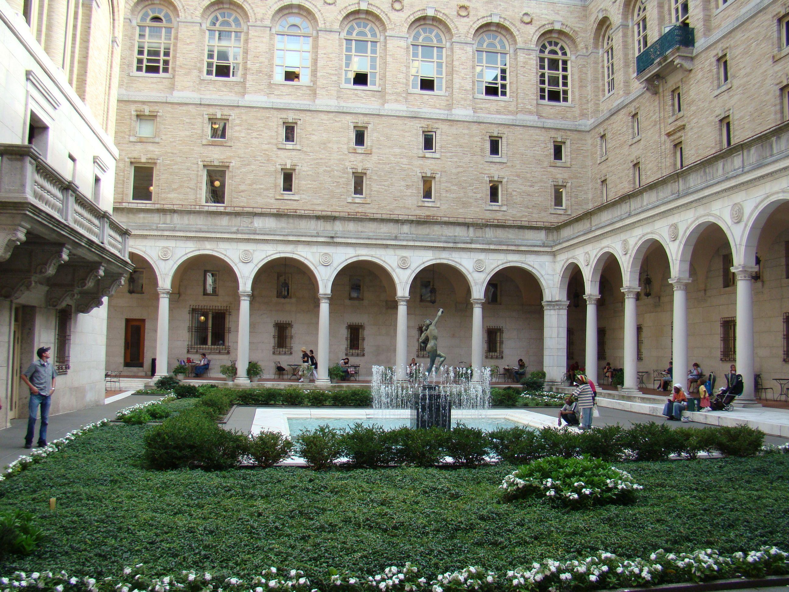 Garden Courtyard Boston Public Library