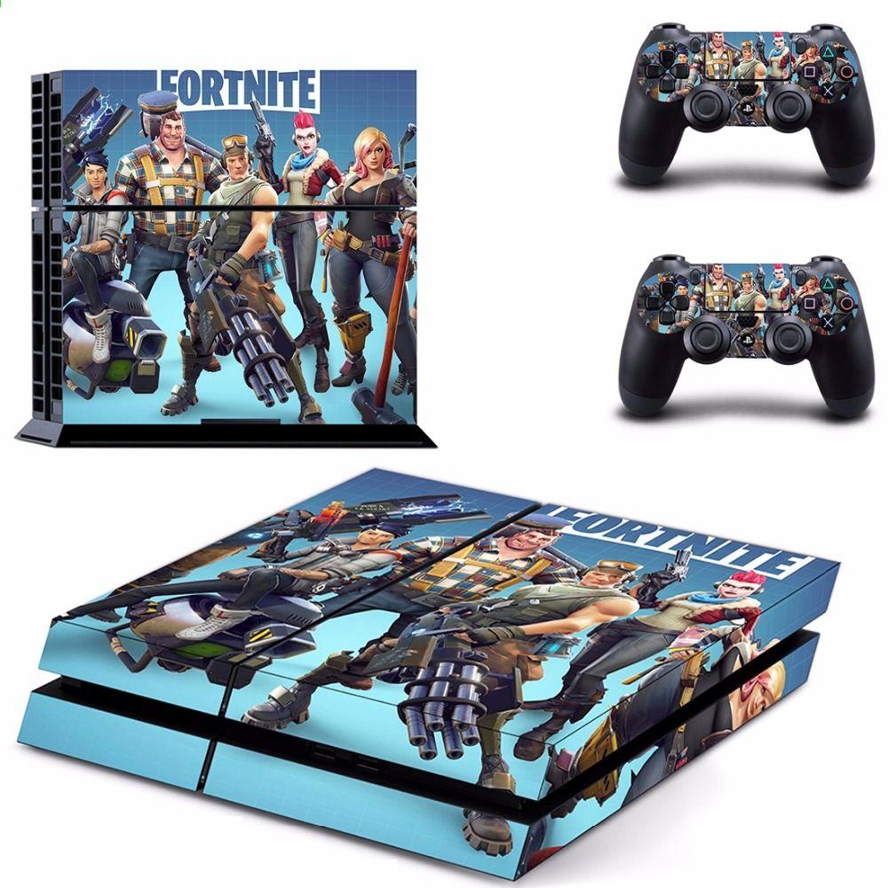 gra fortnite battle royale ps4 naklejka naklejka skory dla sony playstation 4 konsola i 2 kontrolery - fortnite gra ps4