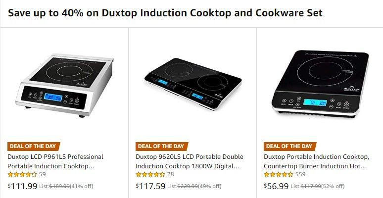 Amazon Deal Of The Day Up To 40 Off Duxtop Induction Cooktops Induction Brewing Induction Cooktop Cooktop Induction