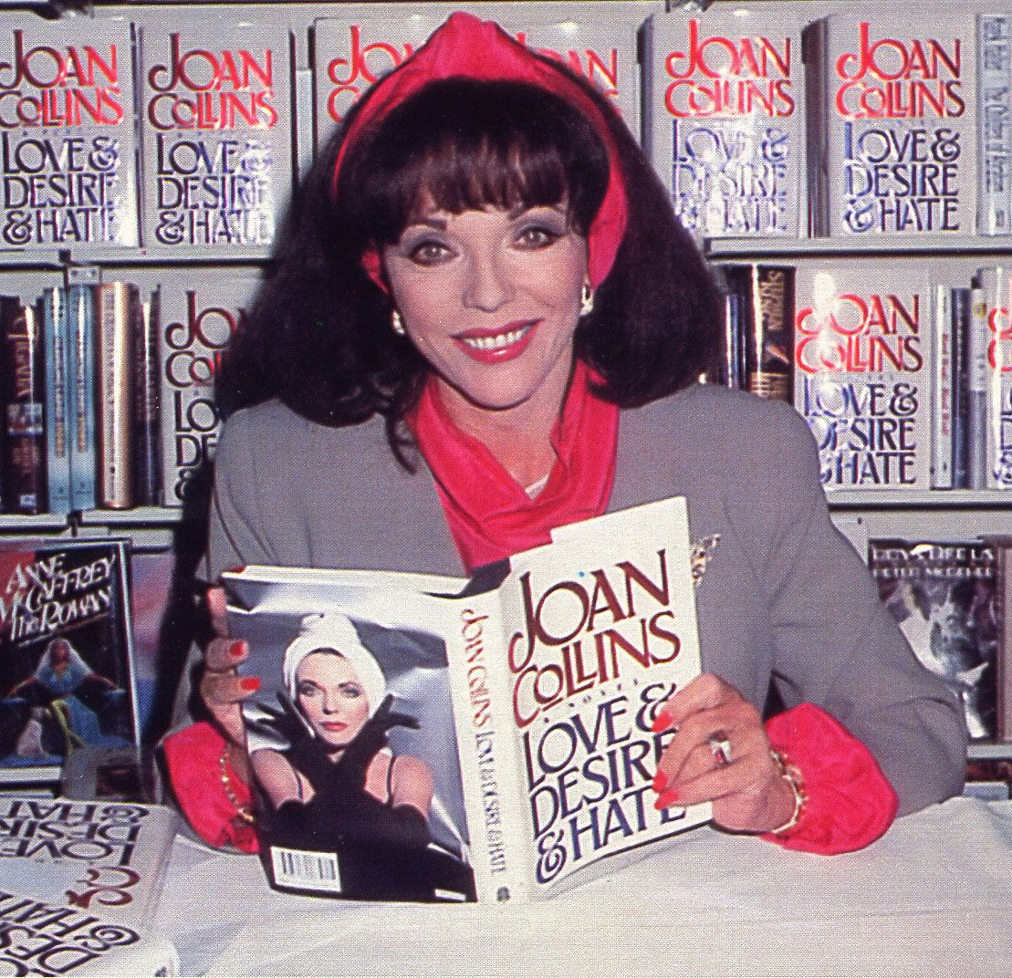 A book signing event (Love, Desire and Hate, 1991)