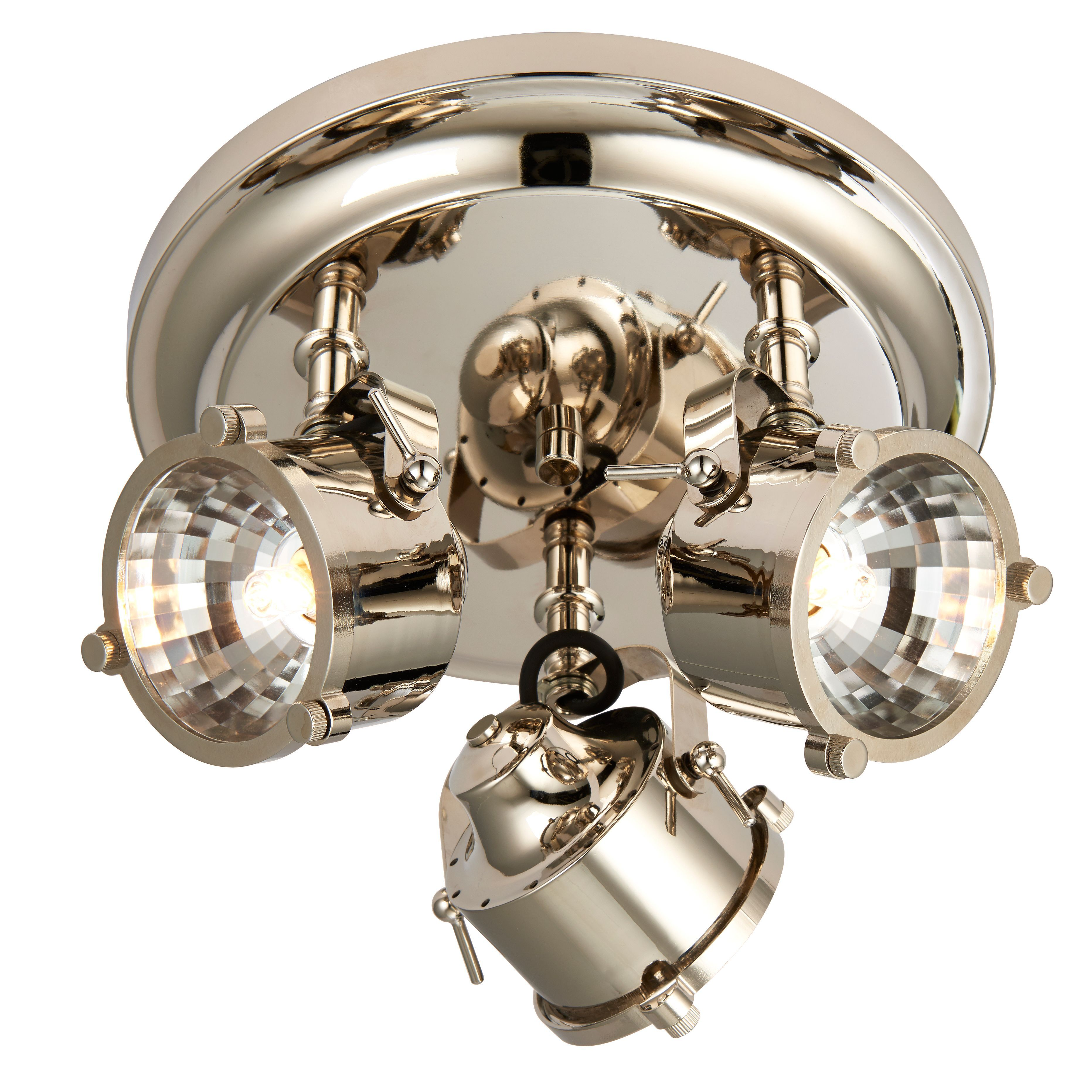 Cayley Nickle Effect 3 Lamp Ceiling Spotlight
