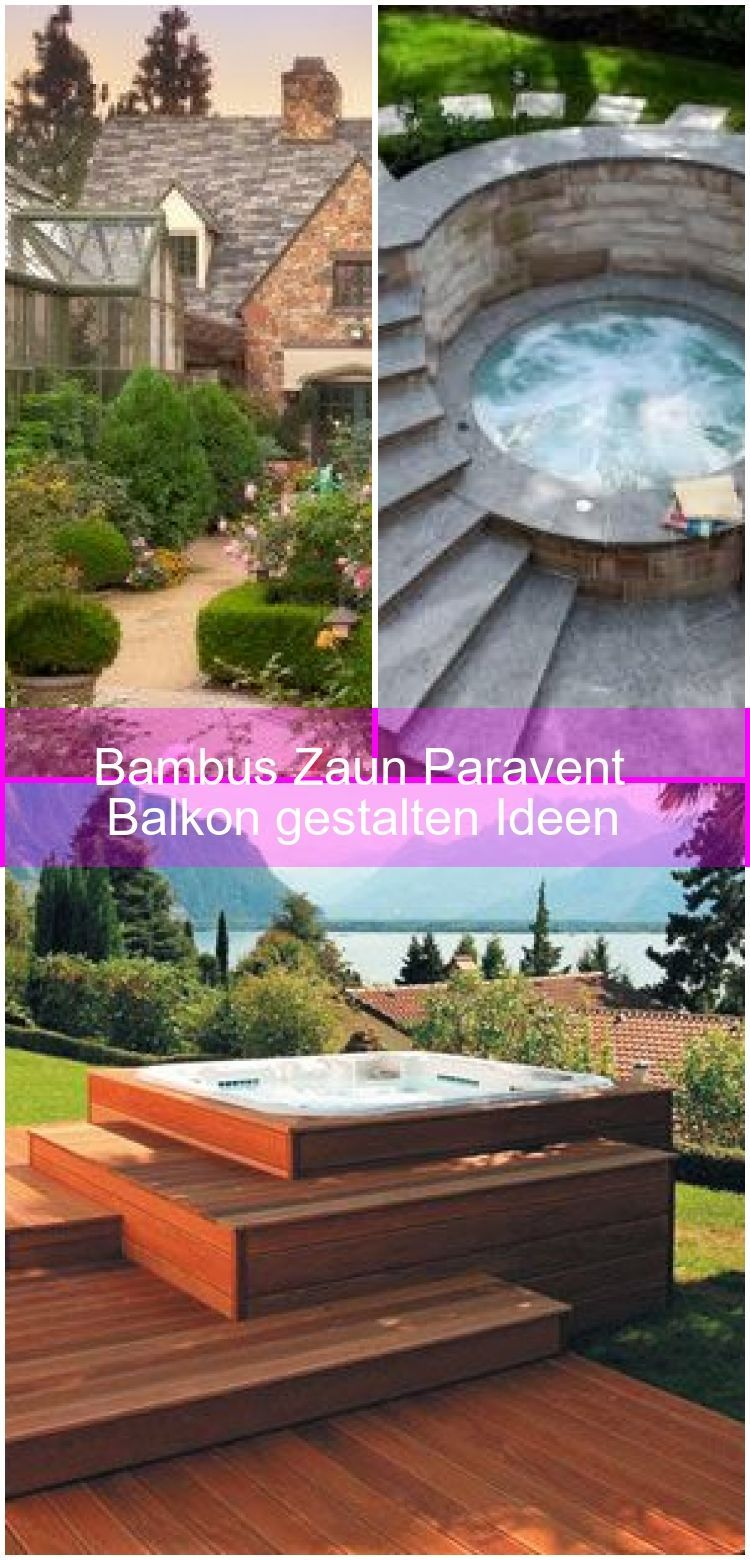 Bambus Zaun Paravent Balkon Gestalten Ideen Balkon Bambus