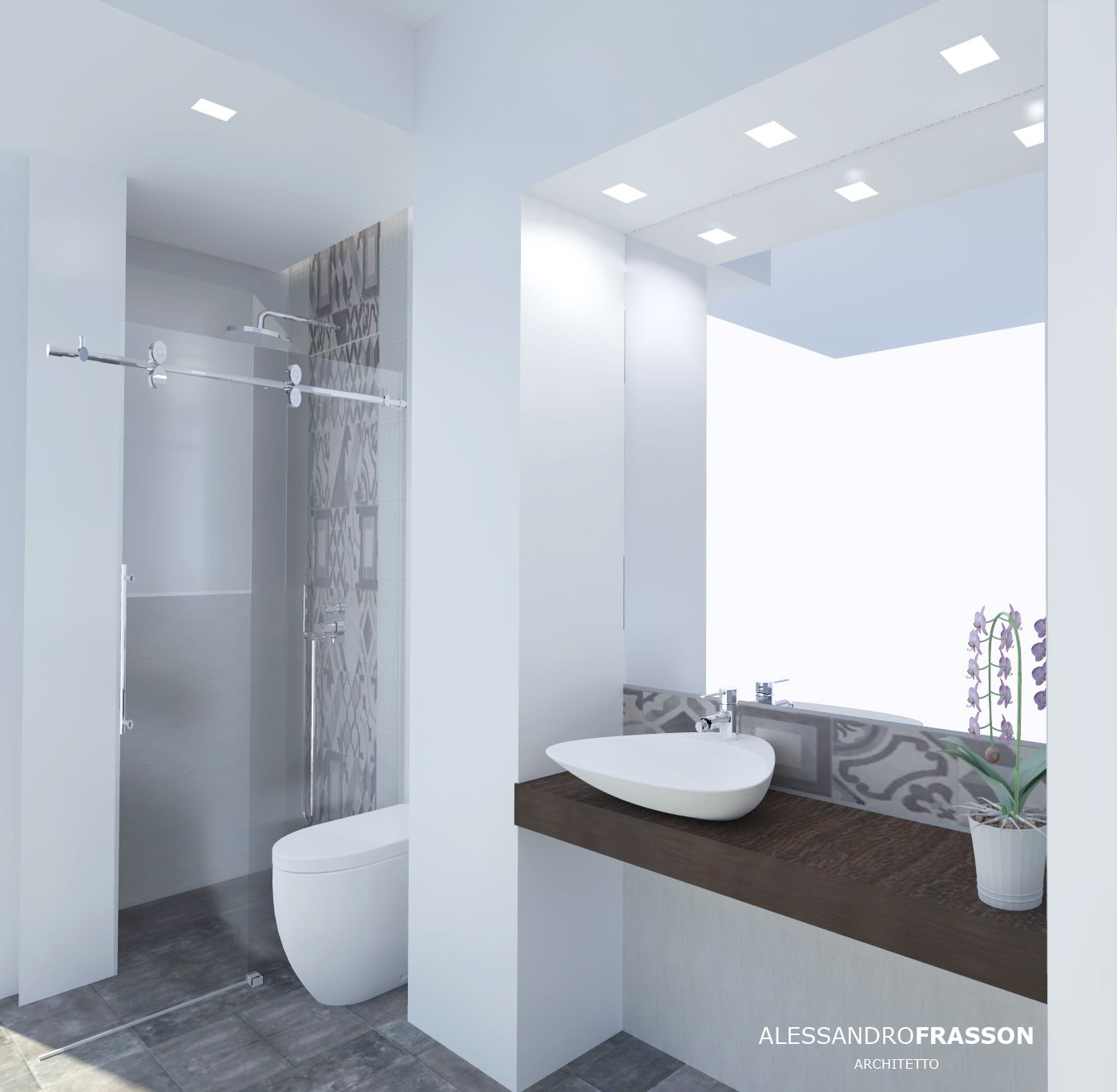 Old mood bathroom 2 - small bathroom in Catania Design arch ...