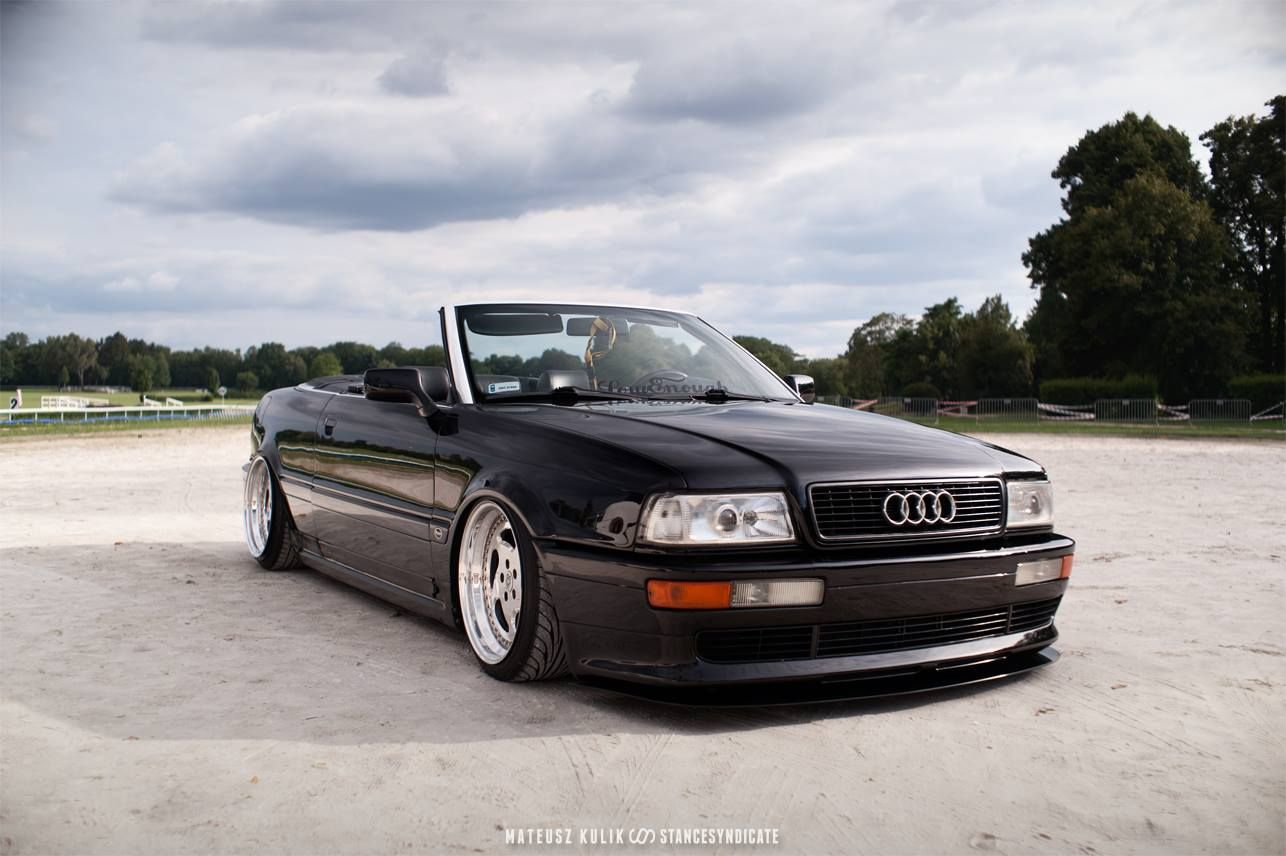 foto van bagged audi cabrio by vitek audi 80 cabriolet pinterest. Black Bedroom Furniture Sets. Home Design Ideas