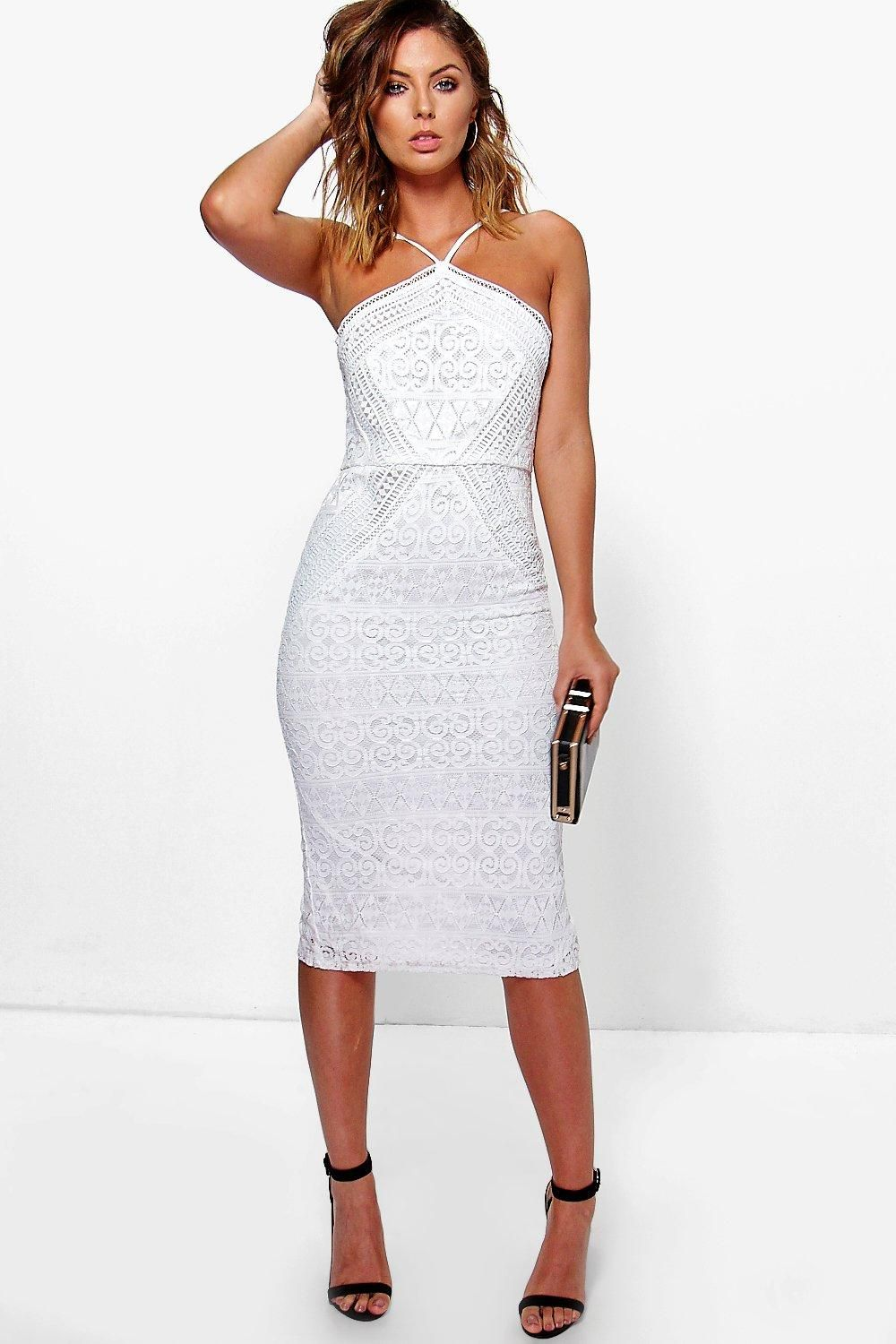 Lace dress bodycon  Issy Strappy Lace Panelled Midi Bodycon Dress  Bodycon dress