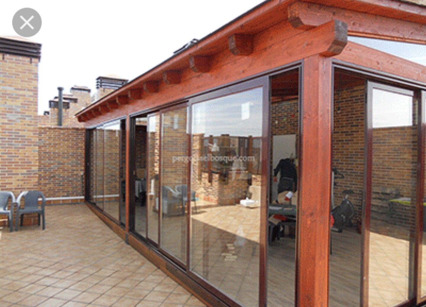 Cerramientos pergola cortinas cristal patio designs - Cerramiento de madera ...