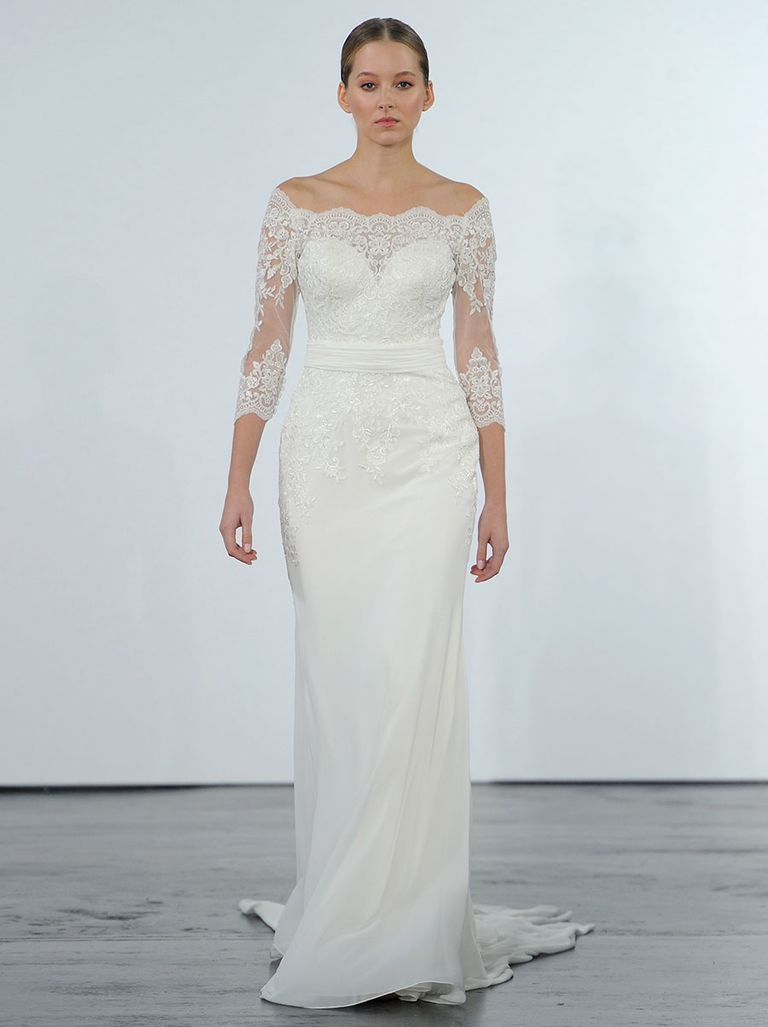 Wedding dresses kleinfeld  Dennis Basso for Kleinfeld Fall  OfftheShoulder Ball Gowns