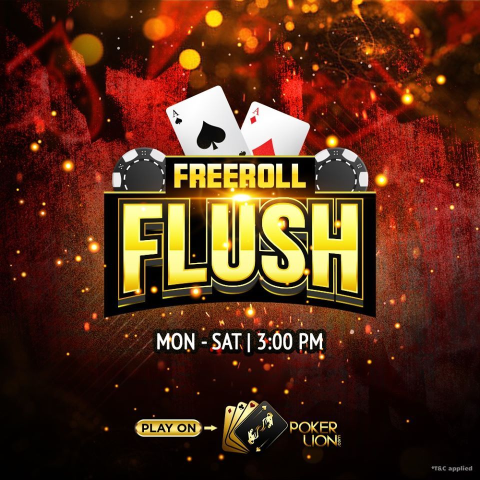 Play Real Money Poker India Tournament FREEROLL FLUSH