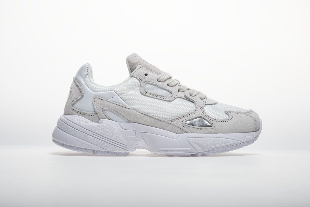 Adidas Falcon W BB9174 YUNG-2 White Grey Shoes3 | Grey shoes ...