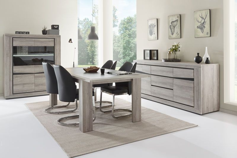 jiyan salle manger tr s styl e en panneaux de particules recouverts pvc meubles toff. Black Bedroom Furniture Sets. Home Design Ideas