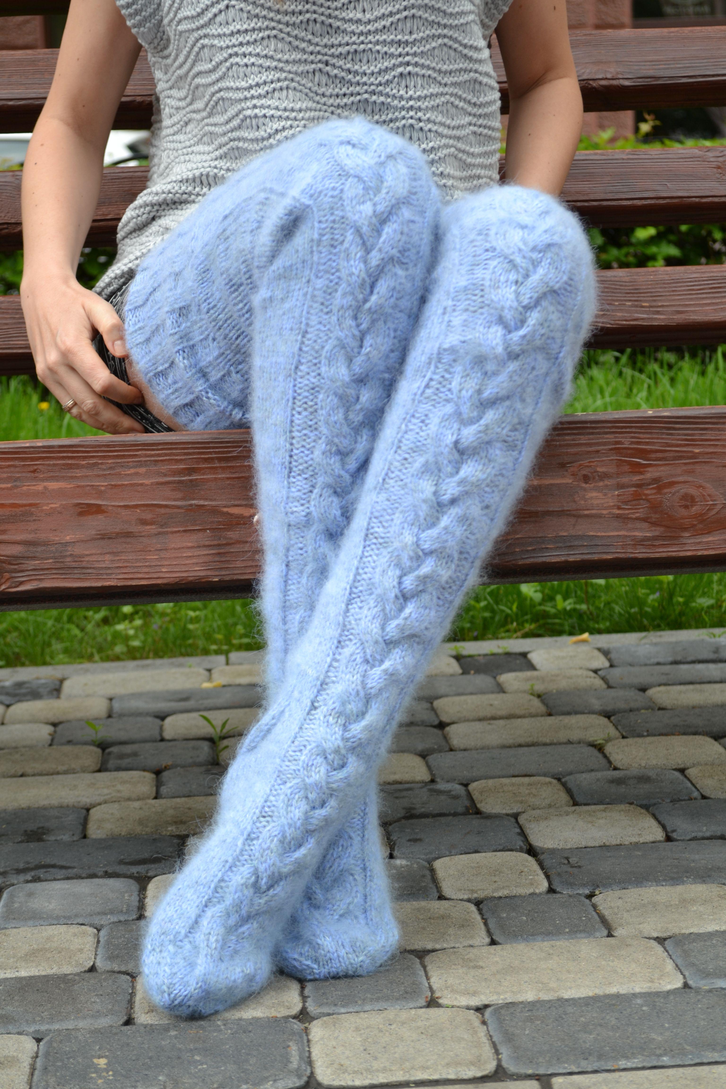 Damen Overknees Strümpfe Lange Socken Stulpen