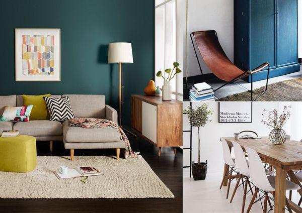 Beautiful Decoration Salon Bleu Canard Ideas - Design Trends 2017 ...