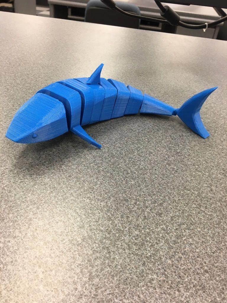 Articulating 3D Shark by PuddenCups - Thingiverse