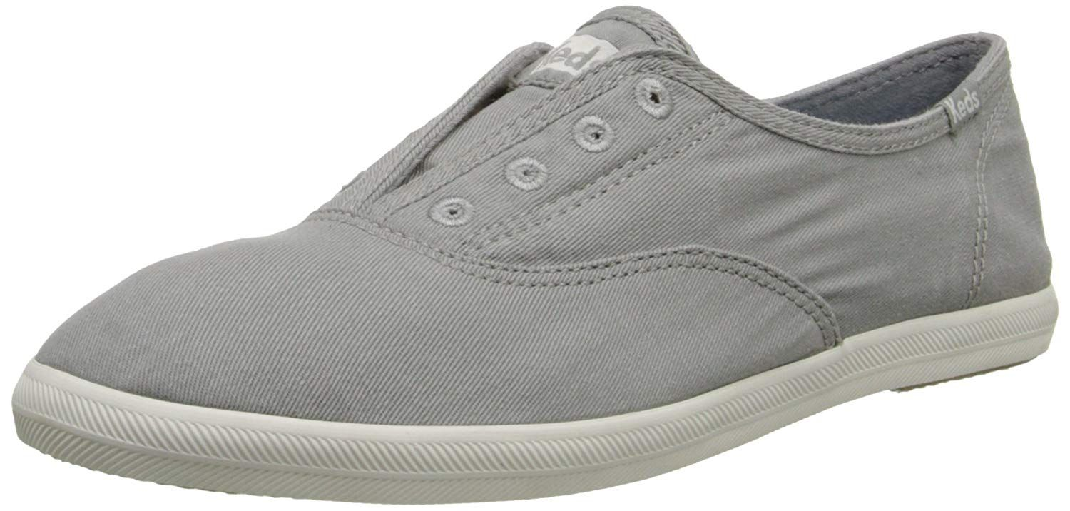 Keds Women/'s Chillax Washed Laceless Slip-On Sneaker-Drizzle