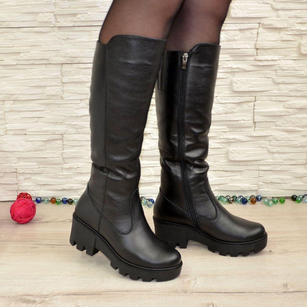 Модні жіночі чоботи на тракторній підошві осінь-зима 2018-2019  645a87f254c90