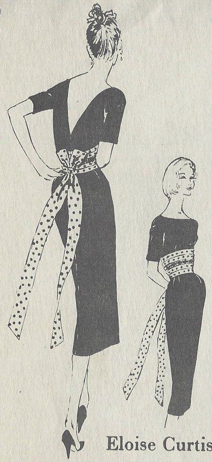 Details zu 1950s vintage Näh Muster B34 1/2 Kleid (R882) von Eloise ...