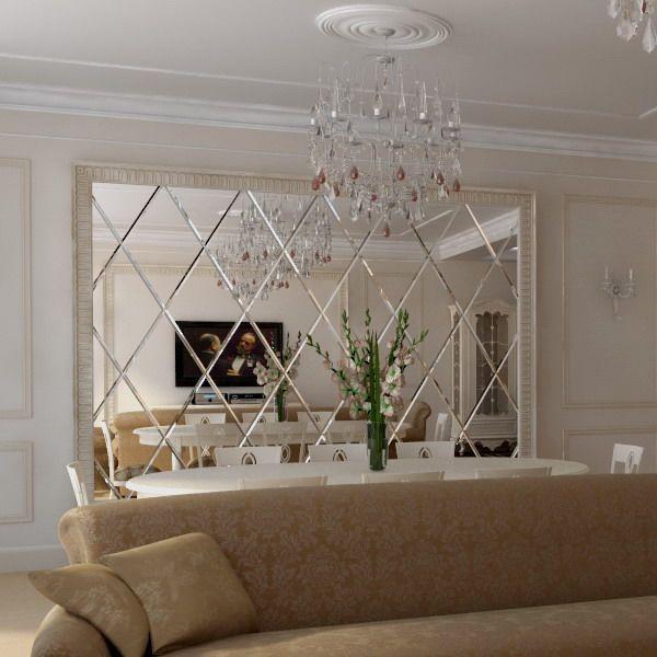 wanddeko Schlafzimmer Gold esszimmer, Spiegel schmücken