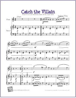 Catch the Villain | Free Sheet Music for Flute | Free sheet