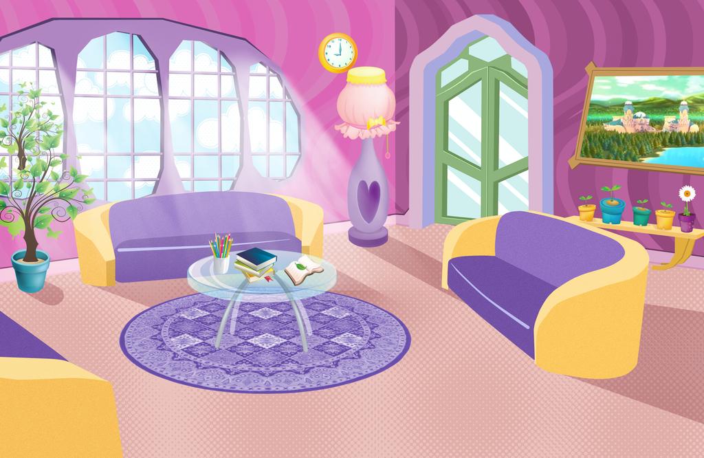 Winx Living Room Background By Akeshiba On Deviantart Living Room Background Anime Background Winx Club
