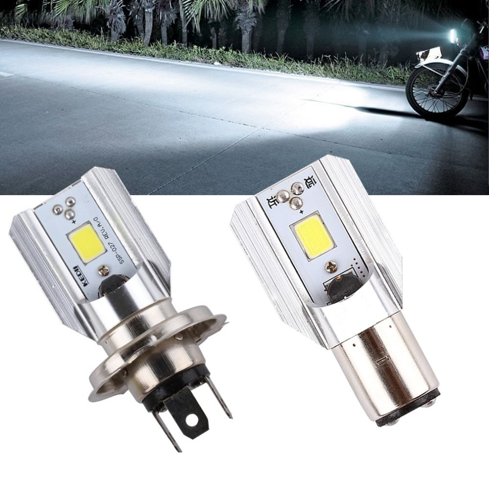 Ba20d Headlight H6 Motorcycle Hl Cob 1000lm H4 Lamp Led Bulbs NnOvm08w